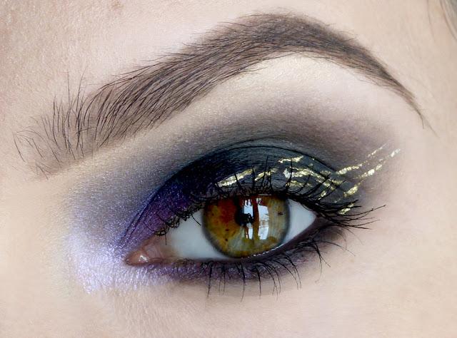 Impresje złoto-fioletowe - makijaż karnawałowy