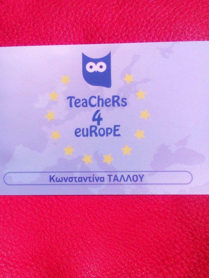TEACHERS4EUROPE ... πιστοποιημένα