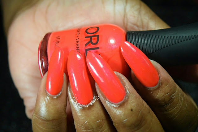 "Orly Adrenaline Rush ""Fireball"" Swatch"