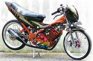 Foto Modifikasi Suzuki SATRIA F150 Hyper Underbone title=
