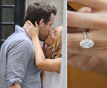 Blake Lively Oval Wedding Ring.