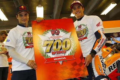 Terima kasih Marc Marquez, Honda Rayakan kemenangan Grand Prix ke-700