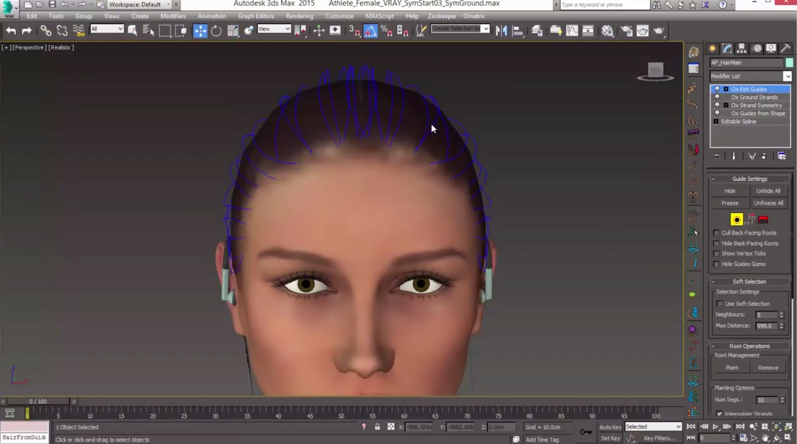 Ornatrix Tutorial Creating And Moving Hair Roots CG TUTORIAL