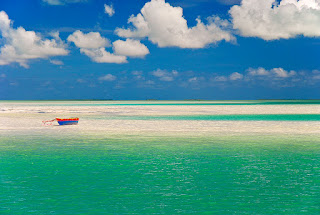 Canoe in the Lagoon, Kiritimati - Kiribati