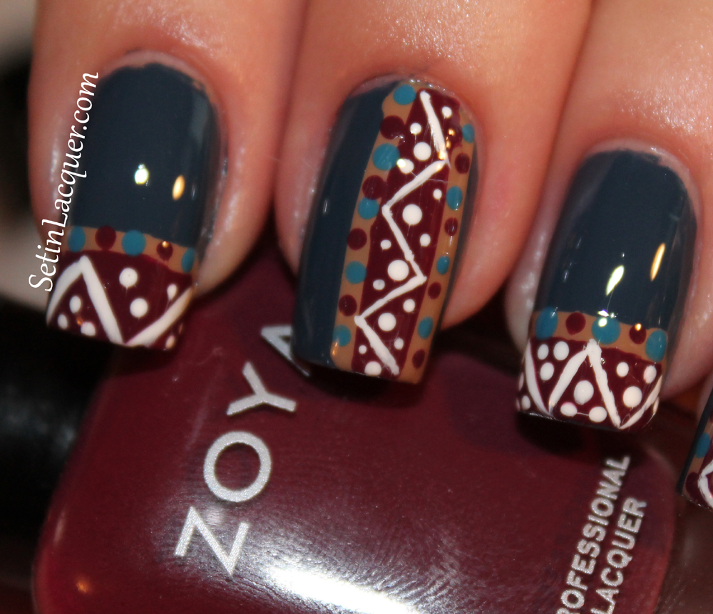 Tribal Nail Art With Zoya Set In Lacquer