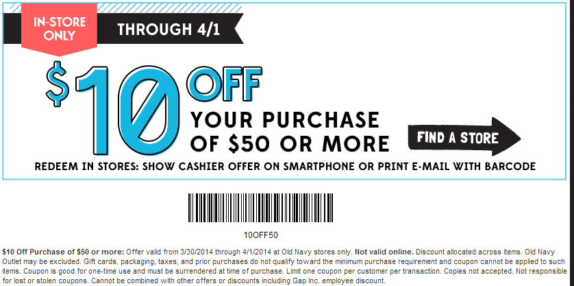Old navy coupon printable coupons