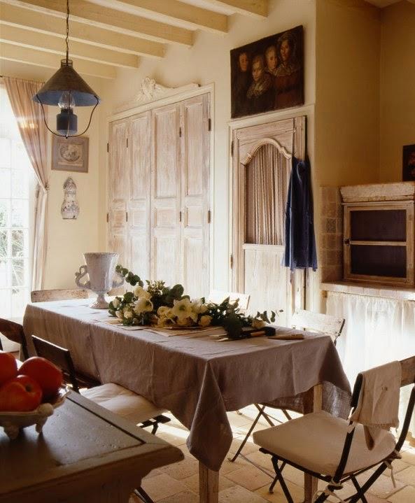 office de cocina estilo provenzal francés