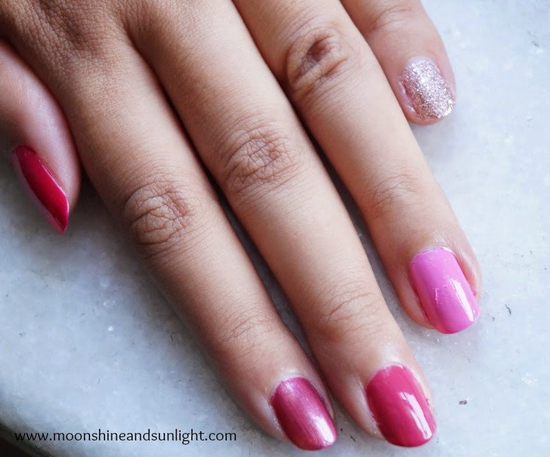 "Pink Ombre Nail art || Monochrome ""Mani""a , Indian Nail art log"