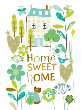 home sweet home limited edition prints geeting cards stationery Liz and Pip Ltd