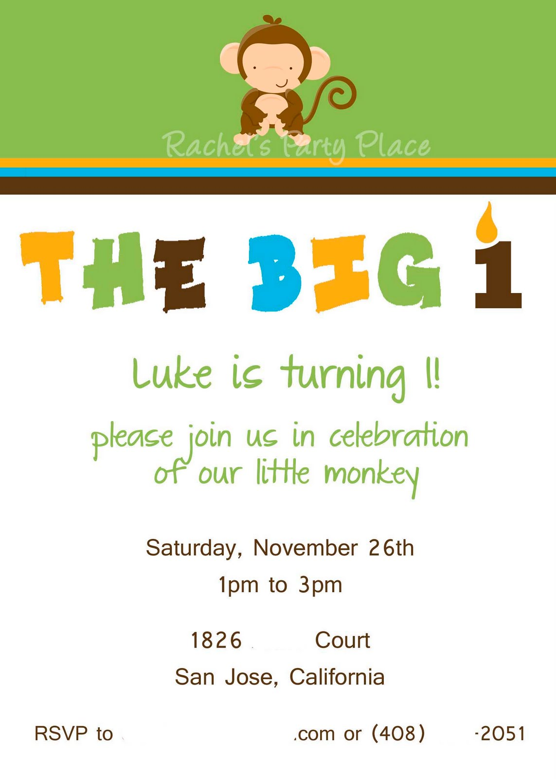 Rachel\'s Party Place: Little Monkey First Birthday!