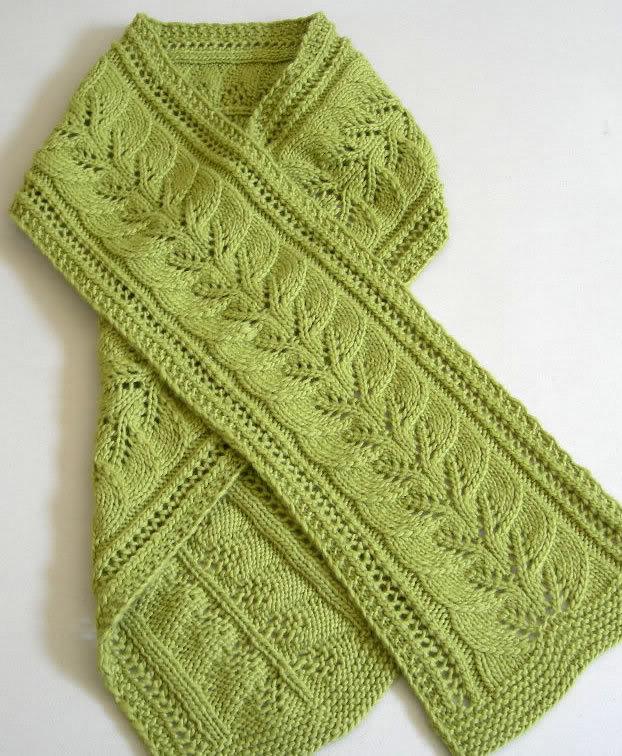 Học cách đan khăn len hình lá cho nữ 1