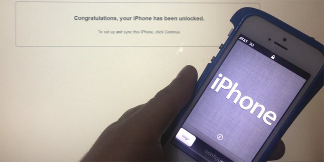 iTunes iPhone Unlock Check
