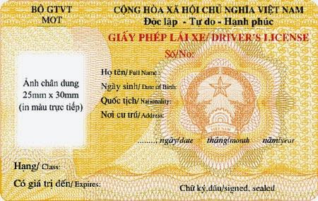 Mẫu giấy phép lái xe mới