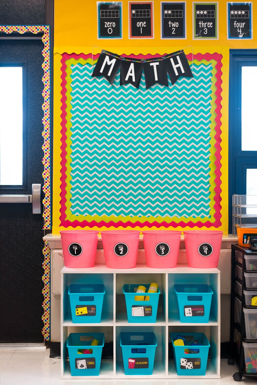 Math Classroom Decorations ~ Classroom reveal first grade made