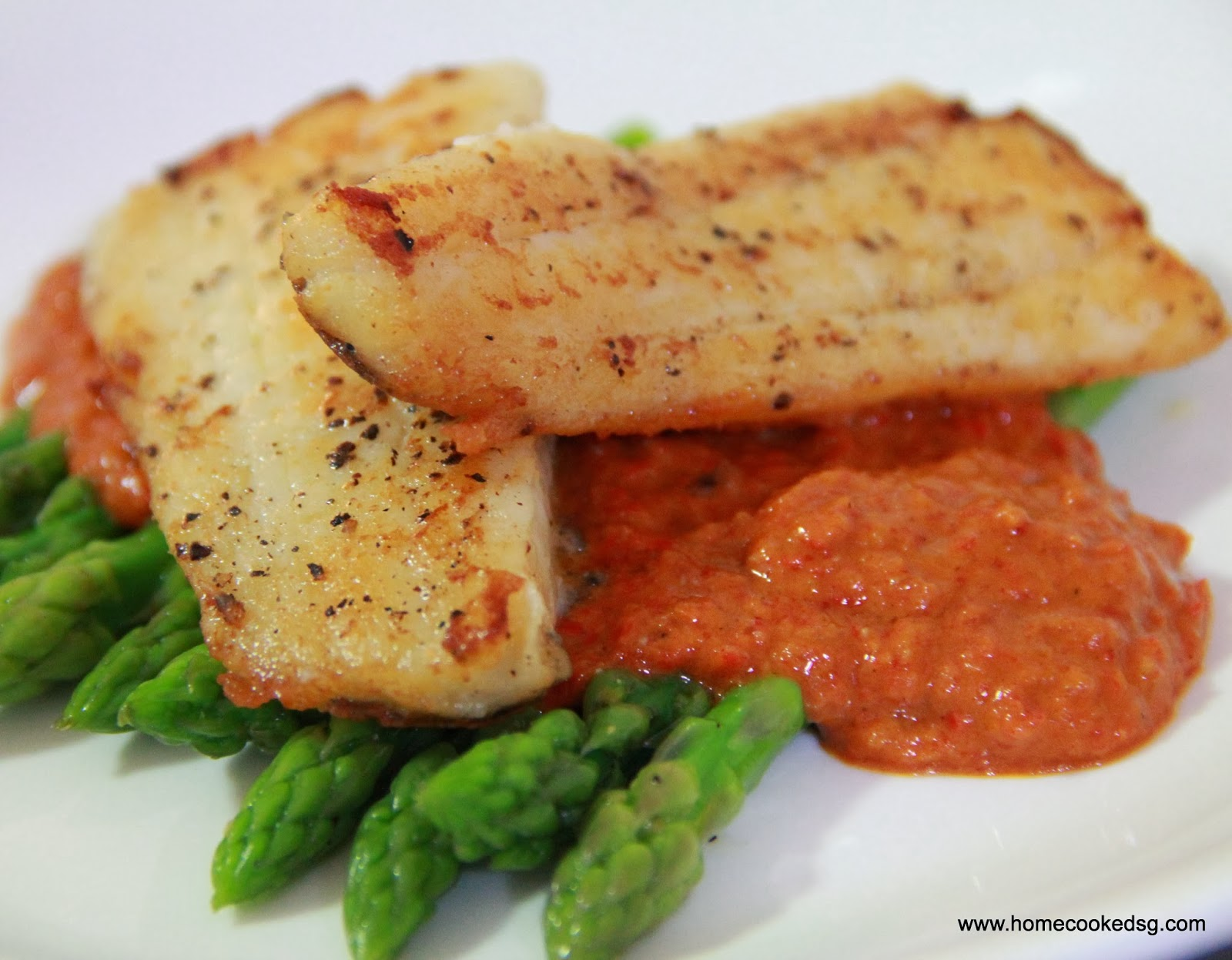 Home cooked sg pan fried fish fillet and red pepper sauce for Pan fried fish fillet recipes