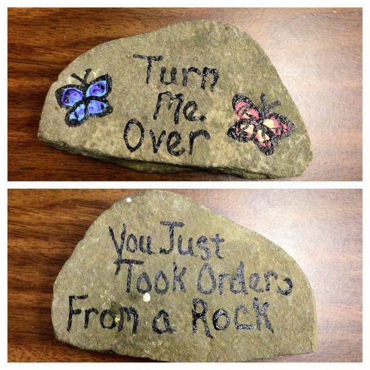 Turn me over. You just took orders from a Rock. meme