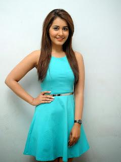 Actress Rashi Khanna Pictures in Short Dress at Jil Trailer Launch 37