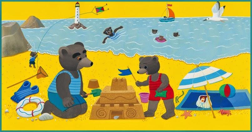 Bonjour les enfants le blog l 39 t en images - Petit ours brun a la mer ...