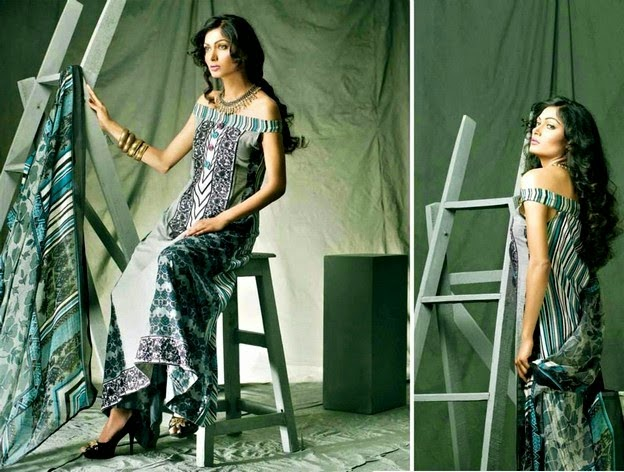 Designer Embroidered Dresses Collection 2014