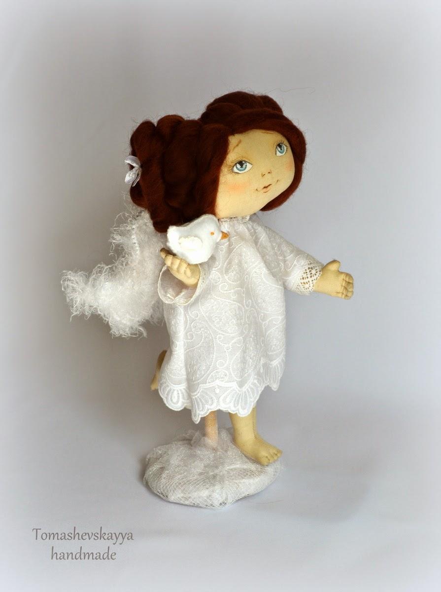 Авторская кукла. Ангел. Картинка.