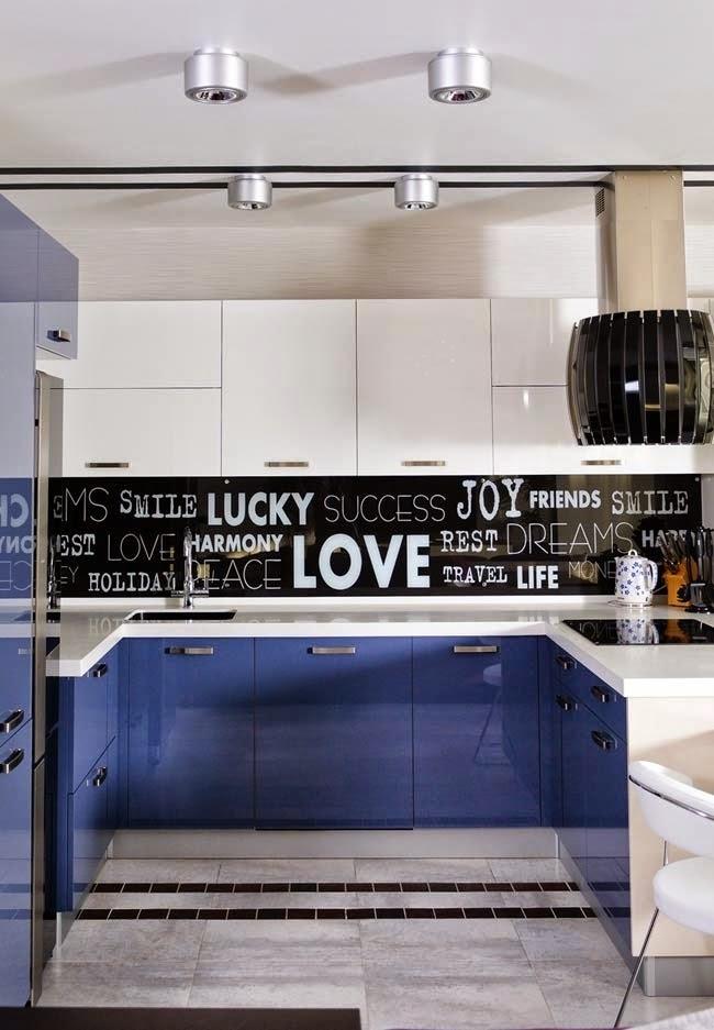 Modern Kitchen Apartment modern apartment design in purple shades