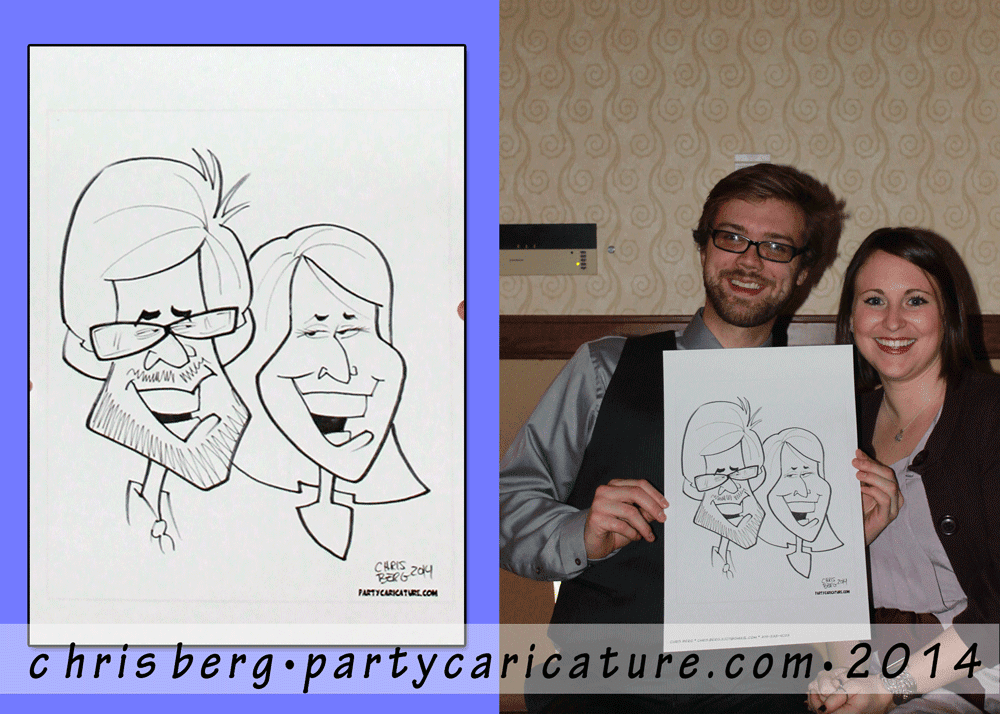 iowa caricature artist chris berg