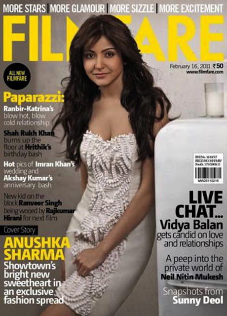 Anushka Sharma on Filmfare Magazine Cover - February 2011