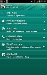 Kaspersky Mobile Security Android App