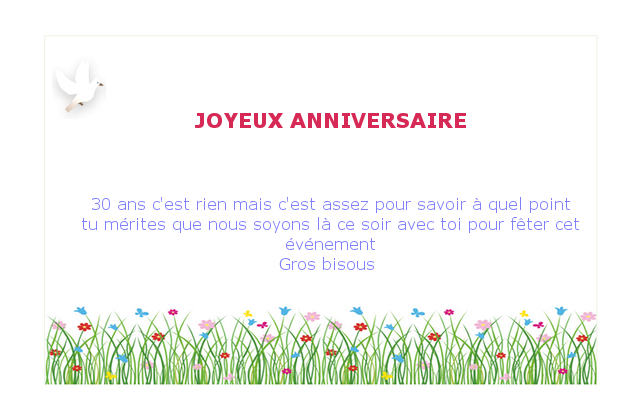 30 ans anniversaire texte invitation marriage