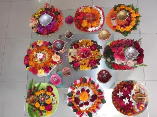 Dews the school panchkula pooja thali decoration for Aarti thali decoration