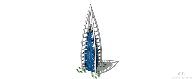 outline designer  skyscraper futuristic designs concept