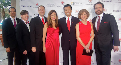 Red Cross Sponsors Eletrolux with Jeff Jesina,  Red Cross Director of Development Marcia Caldirola, Electrolux Head Jack Troung, American Red Cross CEO Gail McGovern  and celebrity  chef Nick Stellino
