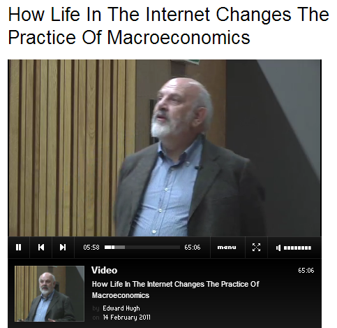 My LSE Lecture (2011)
