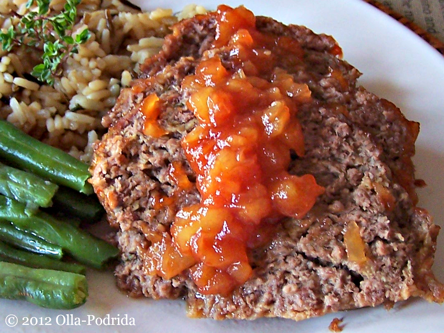 Olla-Podrida: Tantalizingly Tangy Meatloaf