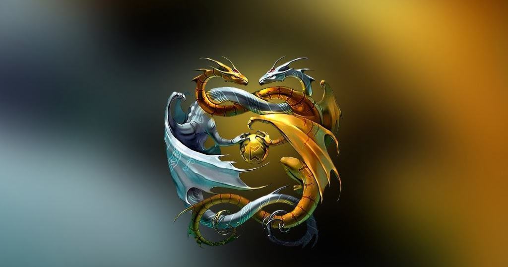 Yin Yang 3D Dragon Wallpaper HD Wallpaper