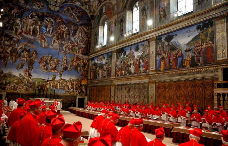 Der papst franziskus das konklave in der sixtinischen kapelle for Exterieur chapelle sixtine