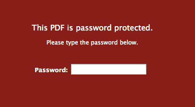 Password Protected PDF File Mac