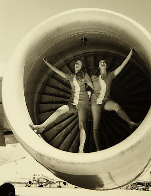 twin stewardesses