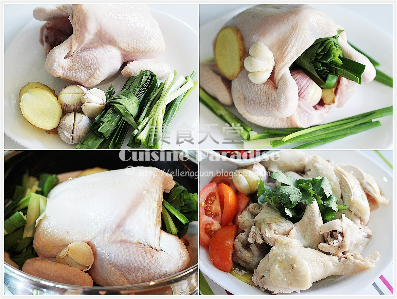 Cuisine paradise singapore food blog recipes reviews and travel steamed chicken with garlic and pandan leaves forumfinder Images