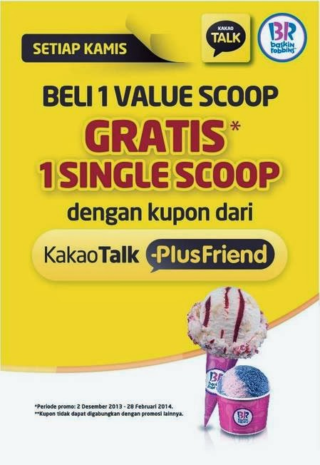 kakaotalk plus friend Baskin Robbins