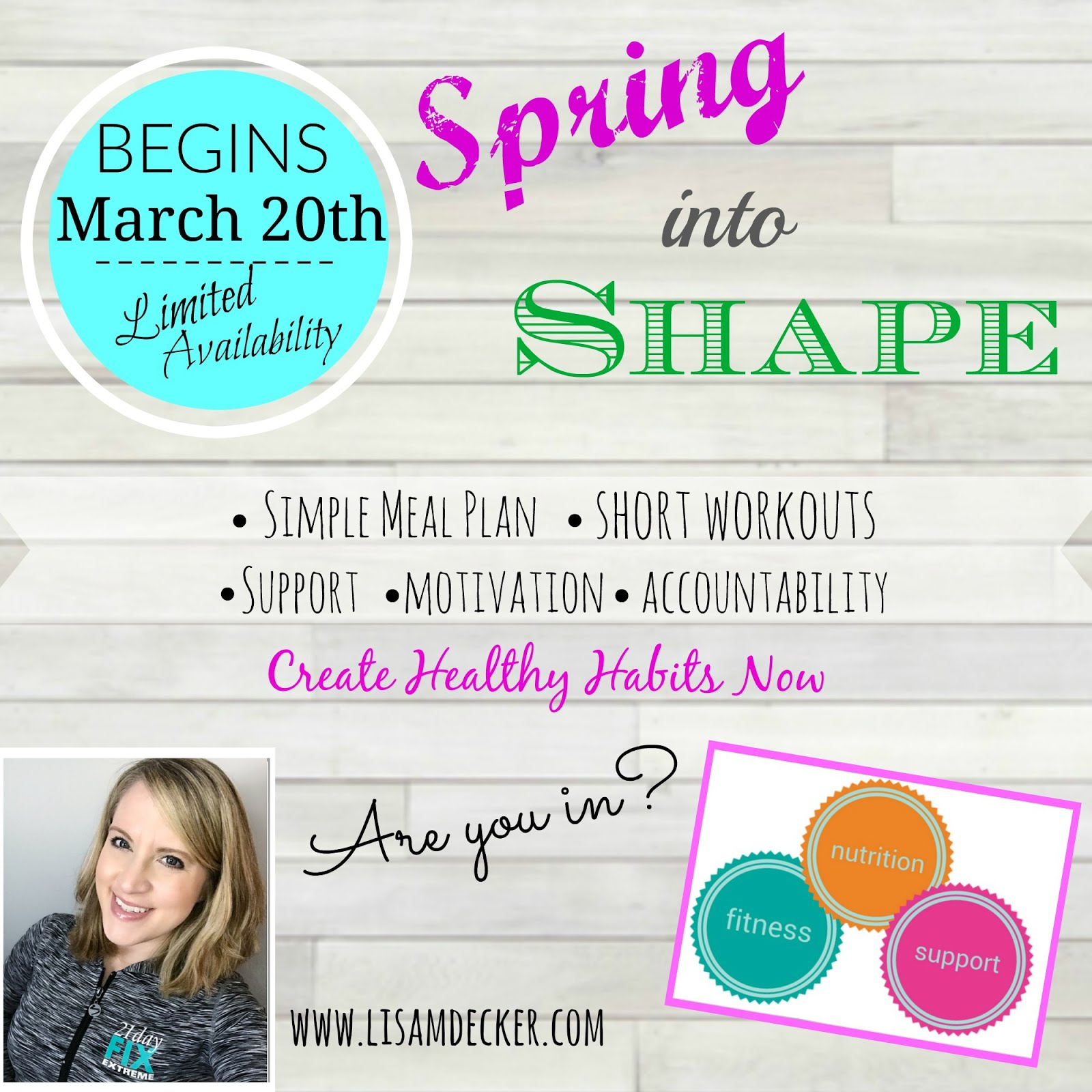 Spring into Shape Accountability....are you in?!
