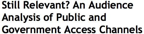 Access Channels Austin Study
