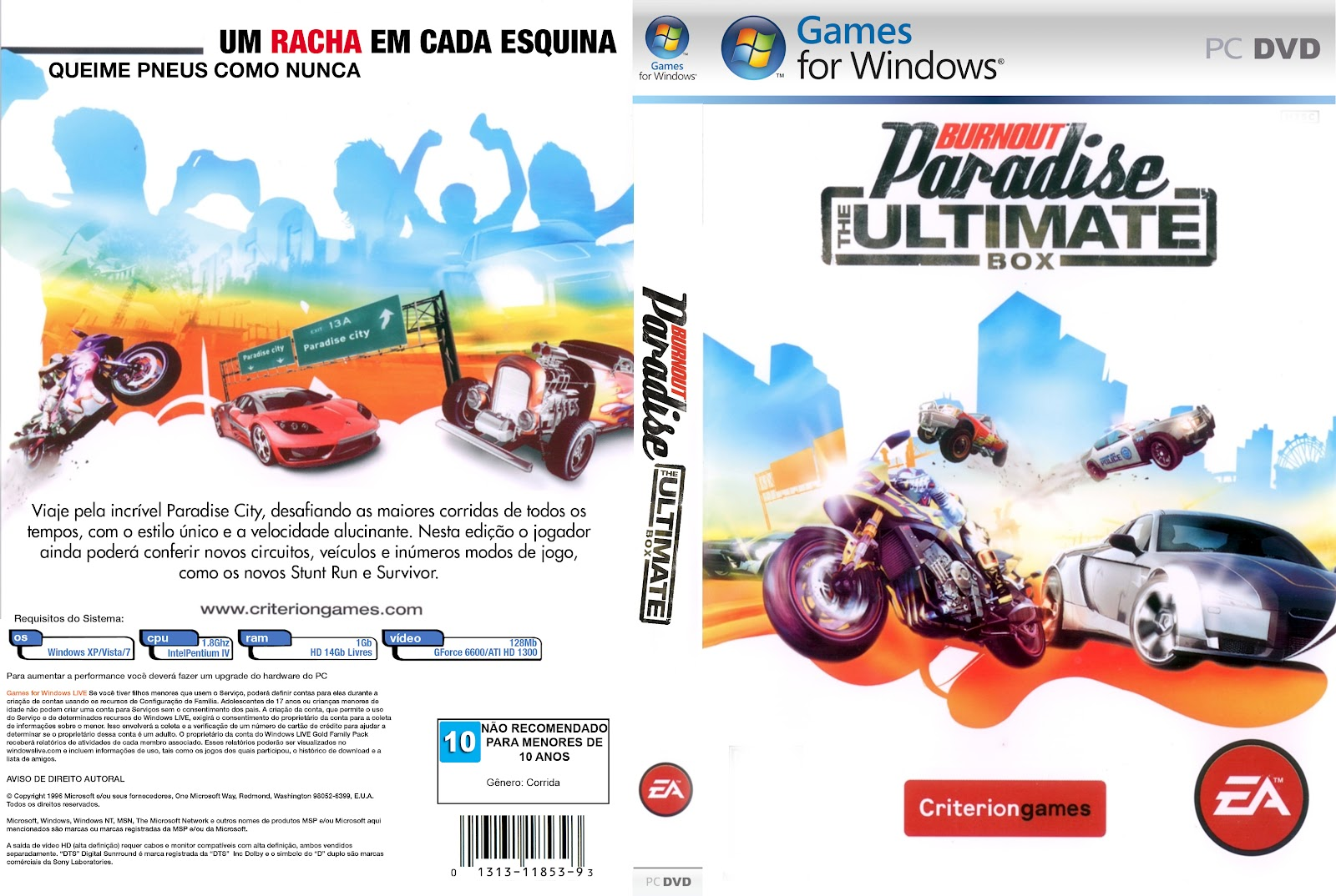 Burnout Paradise PC DVD Capa