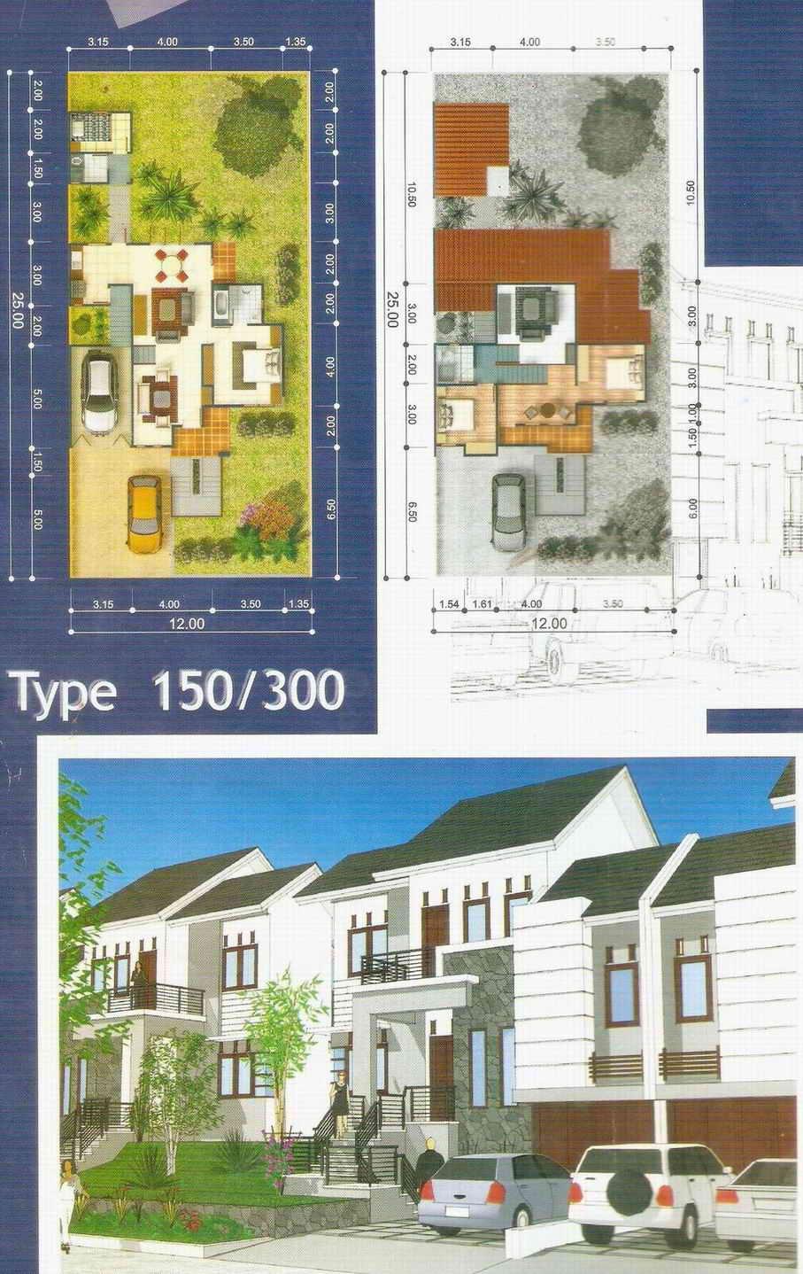 gambar denah desain rumah minimalis rumah type150/300