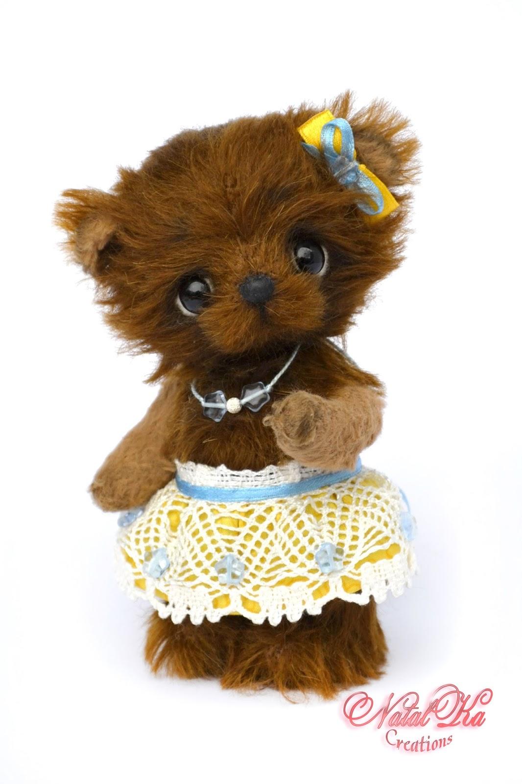 Artist teddy bear, artist bear jointed, teddy bear handmade, ooak, Künstlerteddy, Künstlerbär, Teddybär, Teddy, Bär, авторский мишка тедди, медведь тедди, медвежонок тедди, ручная работа от NatalKa Creations