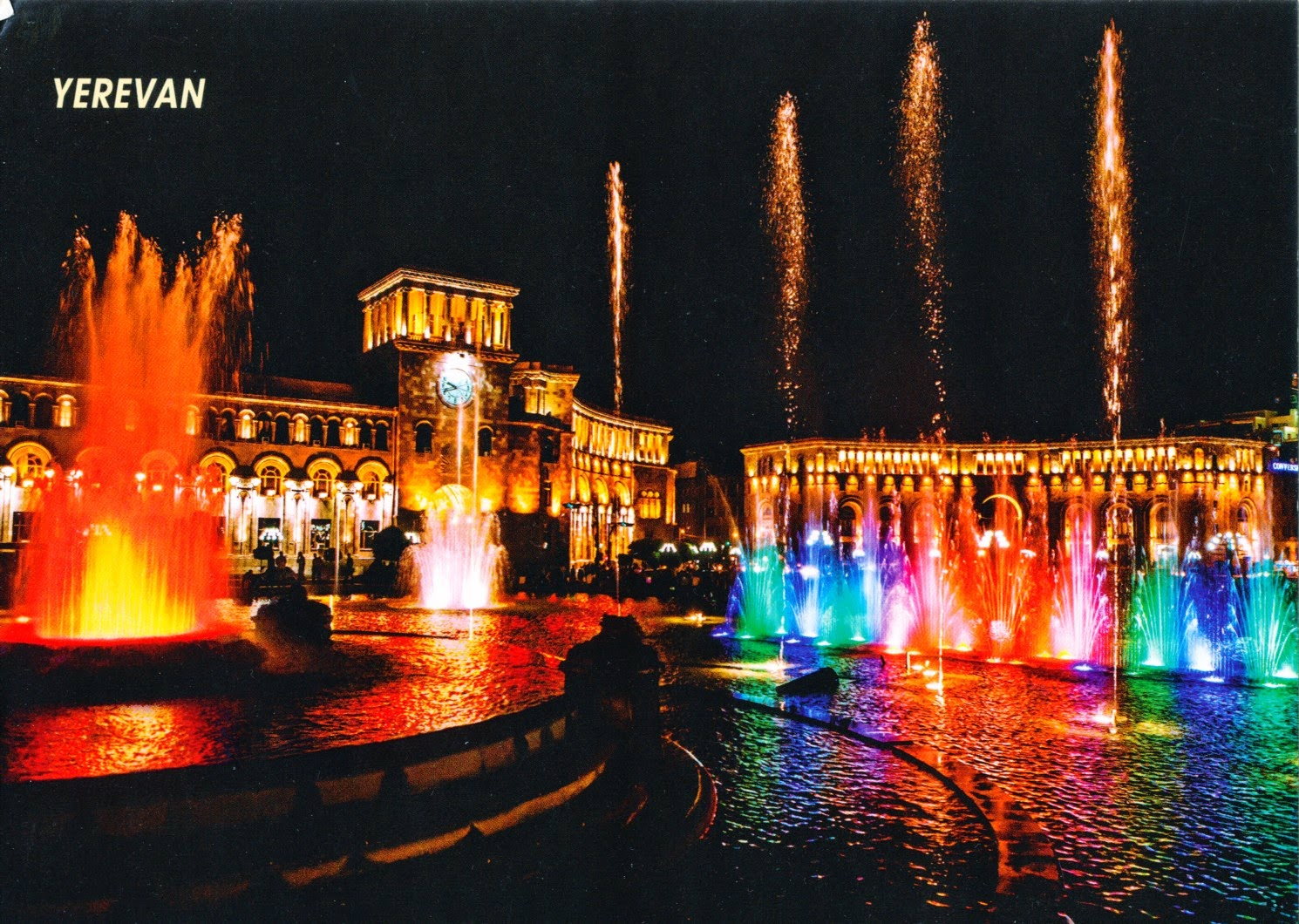 postcard, armenia, yerevan