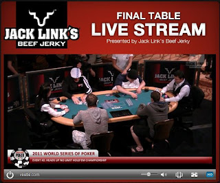 Live stream from 2011 WSOP, via WSOP.com