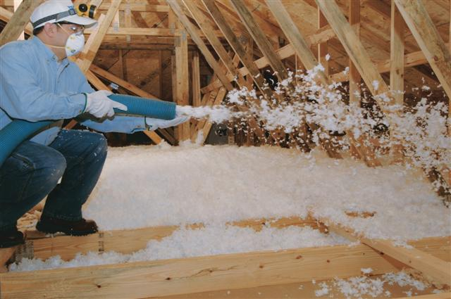 Types of insulation los angeles home attic insuation for Fiberglass blowing wool insulation
