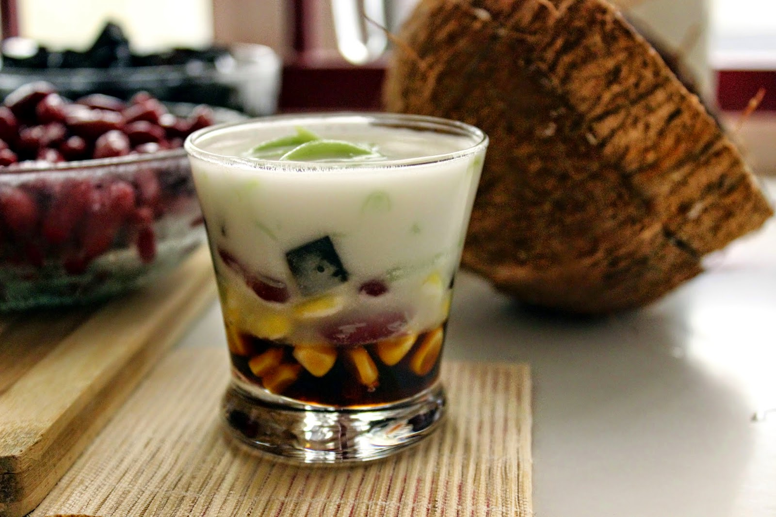 Coconut milk dessert