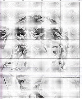 Схема для вышивки крестом черно-белые влюбленные 943